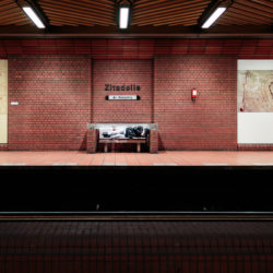 Homeless at Zitadelle station U7