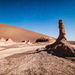 Kalout rock, desert and star sky