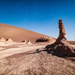 Kalout-Felsen, Wüste und Sternenhimmel