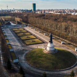 Berlin Soviet War Memorial aerial image