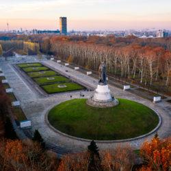 Berlin-Treptow Soviet War Memorial aerial image