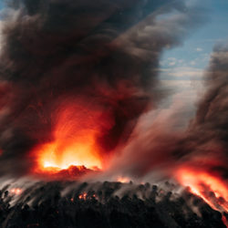 Strombolianische Eruption