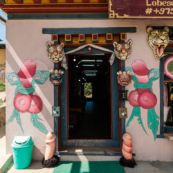 Penis murals in Bhutan