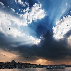 Gewitter über Istanbul