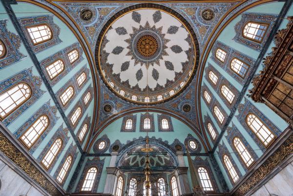 Cupola of Nusretiye Mosque (Nusretiye Camii) in Istanbul