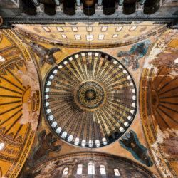 Cupola of Hagia Sophia (Ayasofya Müzesi) in Istanbul