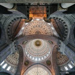 Cupola of Eminönü Mosque (Yeni Camii) in Istanbul