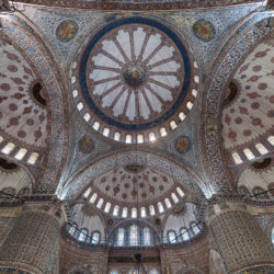 Cupola of Sultan Ahmet Mosque (Sultan Ahmet Camii, Blue Mosque or Great Mosque) in Istanbul
