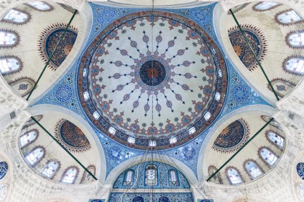 Cupola of Sokollu Mehmet Pasha Mosque (Sokullu Mehmet Paşa Camii) in Istanbul