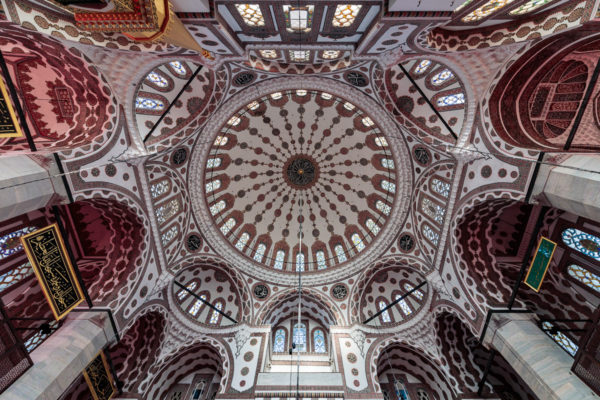 Cupola of Yeni Valide (Yeni Valide Camii) in Istanbul
