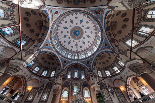 Cupola of Gazi Ahmet Pasha Mosque (Gazi Ahmet Paşa Camii) in Istanbul