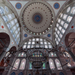 Cupola of Mihrimah Sultan Mosque (Mihrimah Fatih Camii) in Istanbul