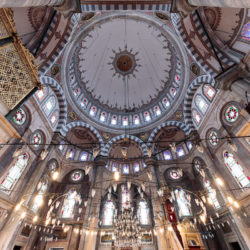 Cupola of Laleli Mosque (Laleli Camii) in Istanbul