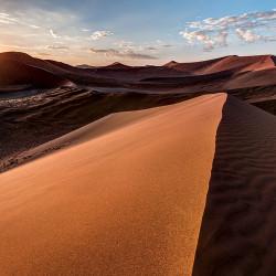red sand dunes,Namib Desert,sunrise