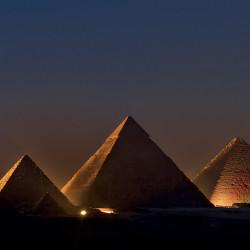Pyramiden Lichtshow