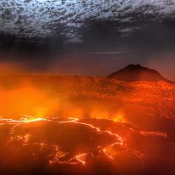 Mondschein-Lava