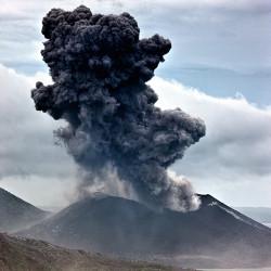 Erupting Tavurvur