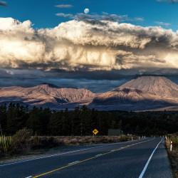 Sonnenuntergang am Tongariro